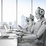 Robots staffing a call center