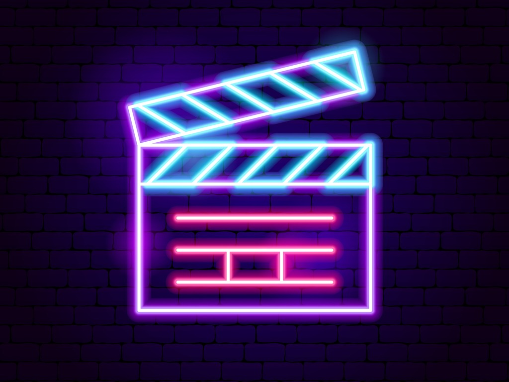 Neon movie clapper